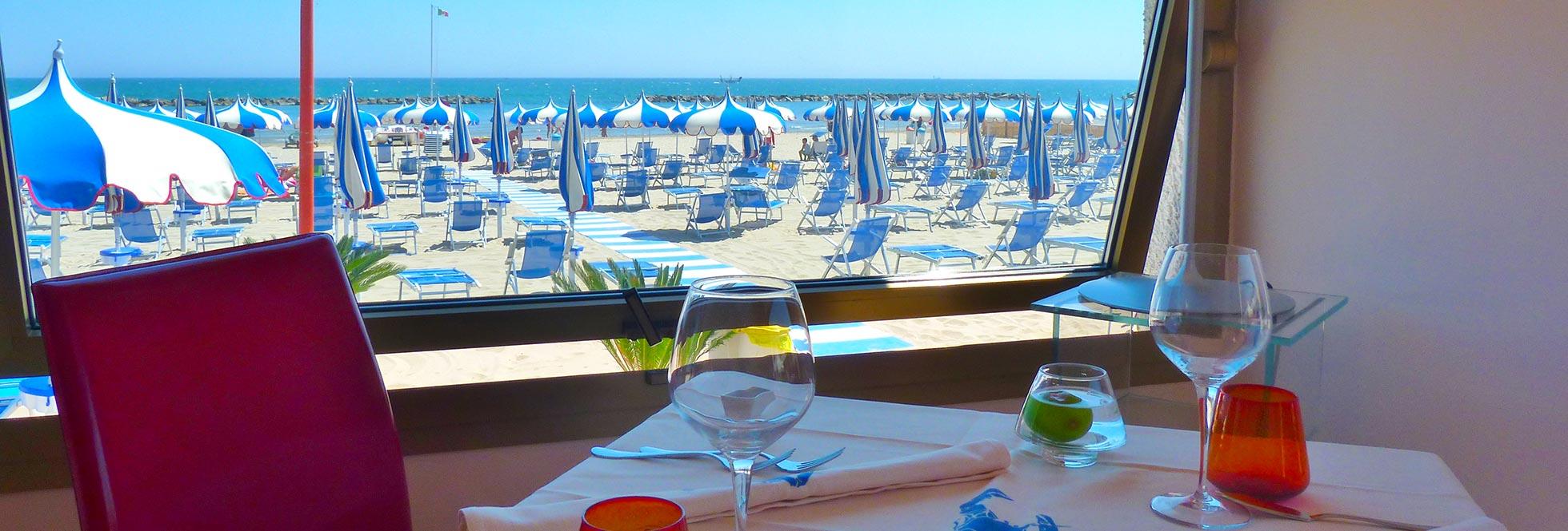 Ristorante sulla spiagga Civitanova Marche